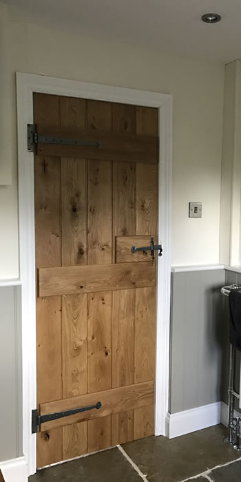 Handmade oak door - back & Cottage Oak - Oak Doors - Hand made oak planked doors and ...