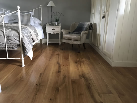 Barn oak floor in situ