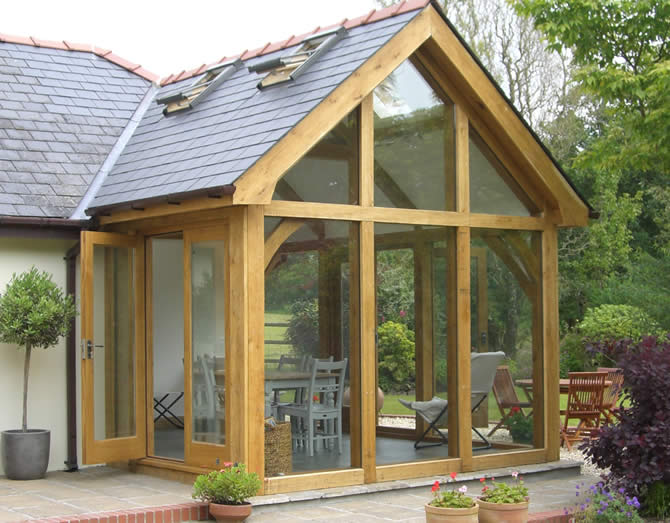 Oak framed conservatory