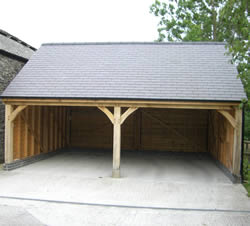 Oak Double Garage